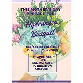 Mothers Day Hydrangea Bouquet workshop