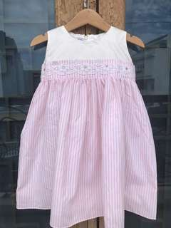 Dress sweet girl stripe pink