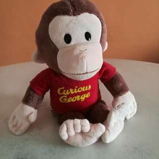 Pre-loved Curious George stuffed toy (20cm) imported from States