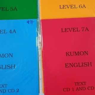 Kumon English Text with CD(4 sets)