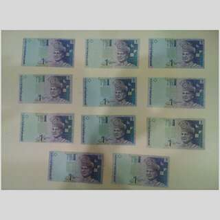 Duit Lama (NEW) RM 1 >> each RM1 note selling price is RM8<< Never been use >>