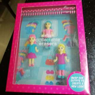 Smiggle pencils n erasers set rm23 NEW