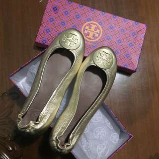 Flat Tory Burch original gold
