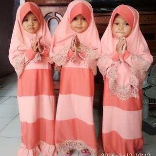 Set gamis anak n hijab