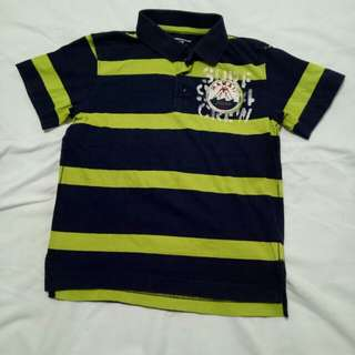 Old Navy Polo Navy Blue Shirt Size 6-7