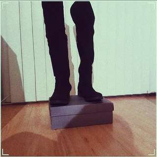 Black Over-the-Knee Boots size 9