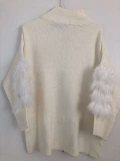 Women Knitwear jumper fluffy fur