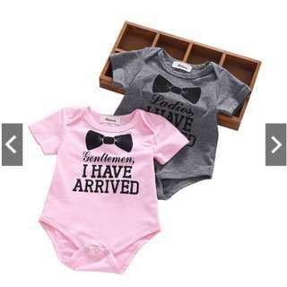 Newborn Letter Print Romper Baby Cotton Clothes Bodysuit Jumpsuit Clothing 0-12M