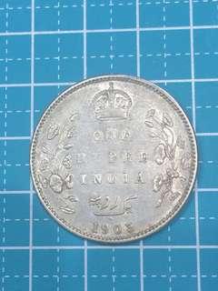 🔥Clearance🔥British India KE VII One Rupee Year 1903