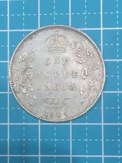 🔥Clearance🔥British India KE VII Silver Coin One Rupee Year 1904