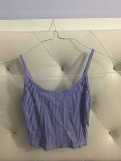 Top shop lavender crop tank