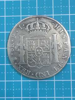 🌟sale🌟Spain Carolus IIII Hispan ET IND REX PTS( monogram) Silver Coin 8Reales P,J( mint Spain) Year 1804 Rare