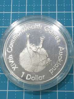 🔥Clearance🔥New Zealand Commonwealth Game Silver Proof Coin One Dollar Year 1989