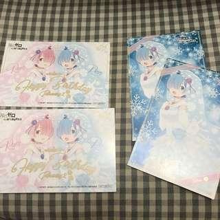 Re:zero Re:從零開始的異世界 拉姆 雷姆 日本postcard  $20/4 包平郵