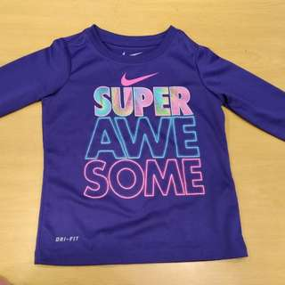Nike Dri fit top (good for swimming) for girl toddler