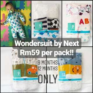Ready stock sleepsuit BONDS inspired two way zip