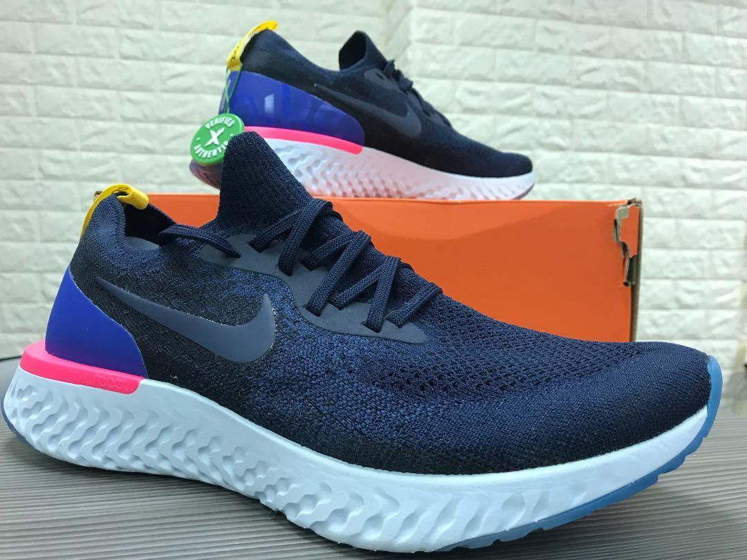 116f5e8e9ab36 100% 全新) 熱賣中Nike Epic React Flyknit Men Navy