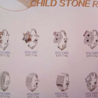 Children Silver 925 Rings