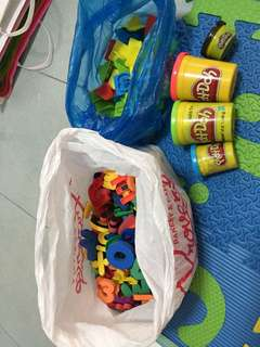 A bag of ABC & play doh