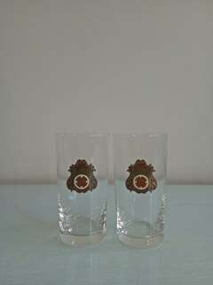 Vintage glass cup mint condition unused 2pcs $10