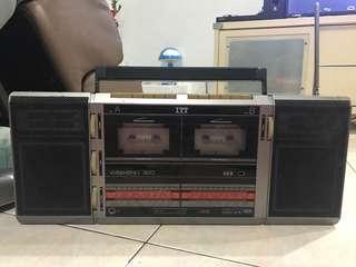 Vintage ITT Radio for sale (cassette functions)