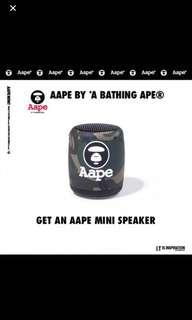 Aape by a bathing ape mini bluetooth speaker
