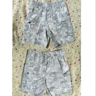 SALE preloved baby boy gray camouflage shorts