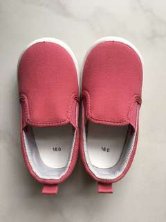 EUC Muji Slip-on Shoes Length 16cm