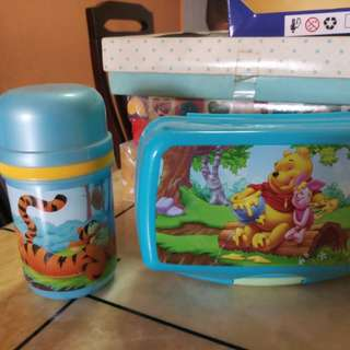 Water Bottle & Food Container (Winnie The Pooh)