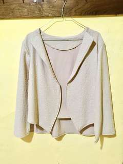 Cape blazer nude cream