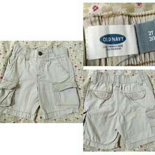 SALE preloved old navy 2T khaki shorts for baby boy