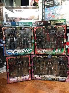 SIC Hibiki Set of 4 boxes Vol 32, 33, 34 and a limited version set SIC Kamen Rider