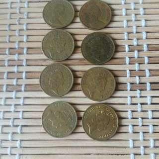 香港一角女皇頭硬幣
