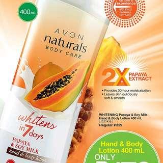 NATURALS PAPAYA & SOY MILK HAND & BODY LOTION 400 ML