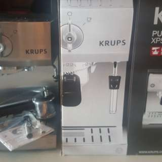Krups coffee machine and frother