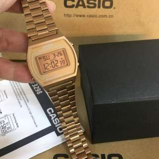 Casio Vintage Rose Gold Stainless Steel Band Women's  Watch B640WC-5ADF