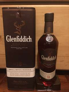 Glenfiddich whisky single malt 威士忌單一18年