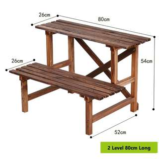 Plant Rack\ Stand\ Shelf - 2 Level 80cm
