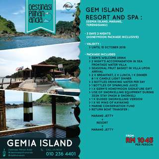 GEMIA ISLAND PACKAGE