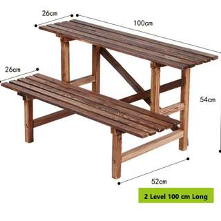 Plant Rack\ Stand\ Shelf - 2 Level 100cm