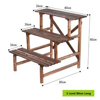Plant Rack\ Stand\ Shelf - 3 Level 80cm