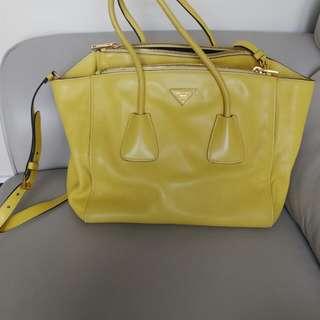 Prada Leather Large Tote Bag