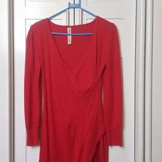 Red long sleeve, Smart Casual dress