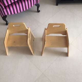 Toddler Chair Set.   Solid wood