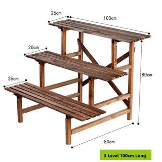 Plant Rack\ Stand\ Shelf - 3 Level 100cm