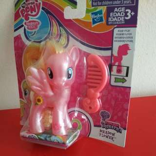 [WTS] Brand New Authentic Sealed Hasbro My Little Pony Explore Equestria Cute Pinky Meadow Flower With Comb. Sz Abt 9 cm.  See All Pics. See Another Listing For Related Beach Mat.