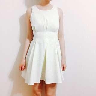🚚 olive黃底藍花洋裝