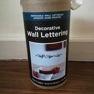 Decorative Wall Lettering
