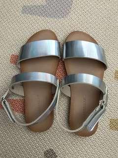 Zara Girl hologram Silver Sandals (Size 27)