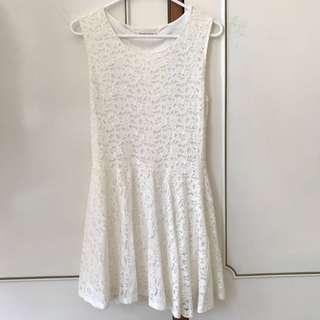Lace skater mini dress